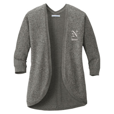 Port Authority ® - Ladies Marbled Cocoon Sweater - Embroidered Logo Thumbnail