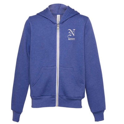 BELLA + CANVAS - Youth Sponge Fleece Full-Zip Hoodie - Embroidered Logo Thumbnail